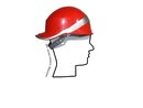 Bauhelm BASEBALL DIAMOND V rot