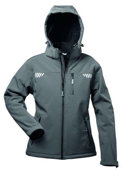 HESTIA Damen-Softshell-Jacke mit Fell und Kapuze